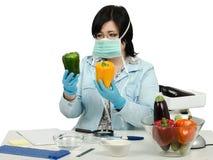 Осматривать Phytocontrol экспертный близко на зеленом и желтом колоколе p Стоковые Фото