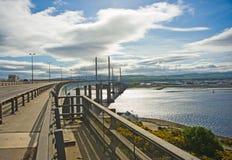 осмотренный север kessock моста Стоковое Изображение RF