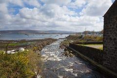 Осмотрите вне к морю от острова Tobermory Mull Шотландия Великобритания Стоковые Фотографии RF