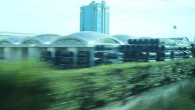 Осмотрите вне от окна поезда акции видеоматериалы
