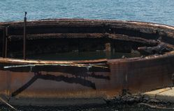 Осмотрите внутри ` s башенки масла USS Аризоны Стоковое фото RF