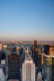 Осмотрите восток от Манхаттана над Ист-Ривер в ферзи и Бруклин Стоковая Фотография RF
