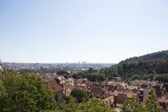 Осмотрите городской пейзаж и ландшафт города Праги, чехии Стоковое фото RF