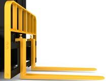 Осмотрите груз платформы грузоподъемника конца-вверх изолированный на белой предпосылке перевод 3d Стоковое фото RF