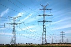 Сельское высоковольтное электричество стоковые фото