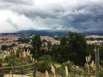 Осмотрите от гор Анд в Cuenca эквадоре Стоковые Фотографии RF