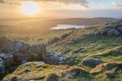 Осмотрите от скалистой вершины овец Стоковое Фото