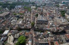 Осмотрите от церков Utrecht Dom Стоковые Фотографии RF