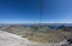 Осмотрите от Weissfluhgipfel 2 843m в ¼ Давос Graubà nden Швейцария в лете Стоковые Фото