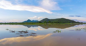 Осмотрите парк fo Khao Loung панорамы около запруды Rom Klao Wang, Uthai Thani Таиланда Стоковые Фотографии RF