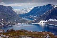 Осмотрите Dalsnibba в Норвегии Стоковые Фото