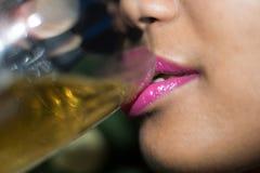 лоснистые губы Стоковое Фото