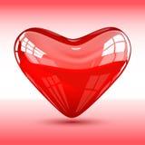 лоснистый красный цвет сердца Стоковое Изображение RF
