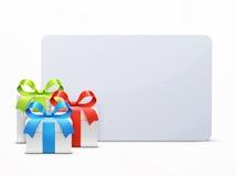 3 лоснистых подарочной коробки Стоковое Изображение RF