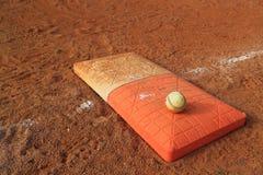 Основание апельсина двойника шарика бейсбола Стоковое Изображение