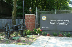 Основание армии США Гамильтона форта в Бруклине, NY Стоковые Изображения RF