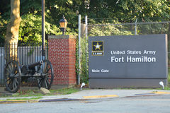 Основание армии США Гамильтона форта в Бруклине, NY Стоковое Фото