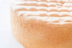 Основание торта губки ванили для украшения Стоковое Фото