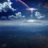 Основание чужеземца на земле планеты Стоковое фото RF