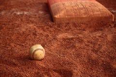 Основание шарика бейсбола Стоковое Изображение