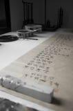 основанное каллиграфии характера китайца зерно близко весьма вручает изображению средств смешанную текстуру съемки картины вверх Стоковые Фотографии RF