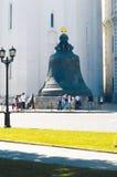 Основатели колокола 1733-1735 царя Москвы Кремля i et летний день m Motorine стоковые изображения rf