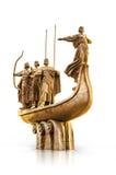 Основатели памятника Киева на белой предпосылке Стоковое Фото