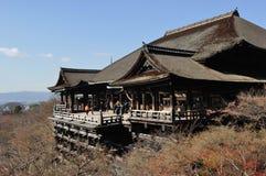 основа kiyomizu dera здания Стоковое Изображение