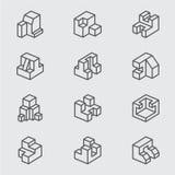 Основная равновеликая линия значок стоковые изображения