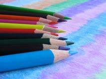 основной покрашенный iv цветов больше карандашей Стоковые Изображения RF