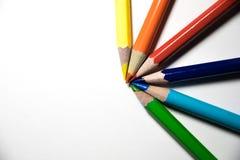 Основной цвет на белой предпосылке Стоковое фото RF