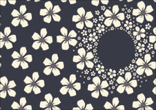 Основной шаблон RGBVector с цветочным узором с белым вишневым цветом цветет на темной предпосылке Стоковые Изображения