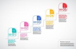 Основной этап работ Компания, вектор Infographic, шаблон дизайна дорожной карты иллюстрация вектора