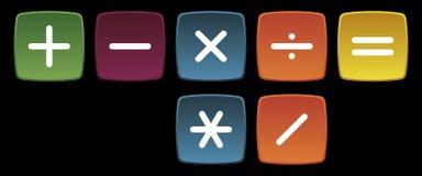 основные сигналы математики Стоковое Изображение