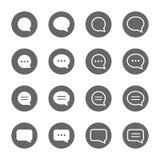Основные установленные значки формы пузыря речи Стоковое Изображение RF