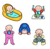 Основные этапы работ 1 младенца Стоковые Изображения RF