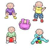 Основные этапы работ 2 младенца Стоковое Фото