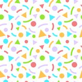 Abstract geometric seamless pattern with triangles and circles royalty free illustration