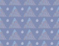Seamless pattern with triangles. stock illustration