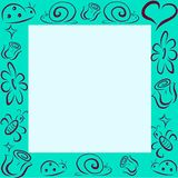 Vector frame with insects and flowers vector illustration