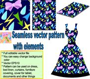 Seamless pattern with elements vector illustration