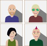 Business people on white background. vector illustration