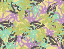 Tropical seamless leaves pattern. royalty free illustration