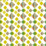 Multi-colored rhombuses on a white background. stock illustration