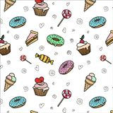 Sweets on the white Background stock illustration