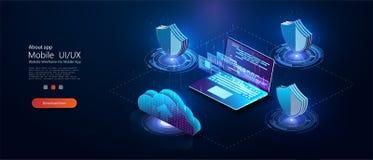 Program development and programming isometric stock illustration