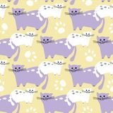 Pattern from colorful cats. stock illustration