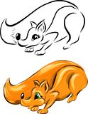 Set of two vector foxes vector illustration