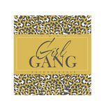 Girl gang slogan with leopard print vector illustration