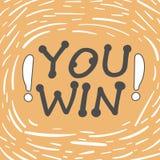You win stock illustration